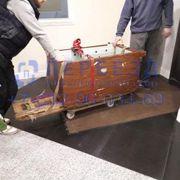 Перевозка сейфа весо 600 кг на салазках