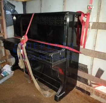 Крепление пианино в фургоне при его перевозке