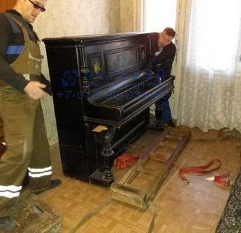 Подготовка к перевозке пианино